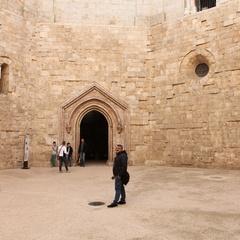Il cortile di Castel del Monte