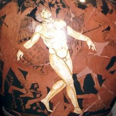 Particolare Vaso di Talos presso il museo Jatta a Ruvo di Puglia
