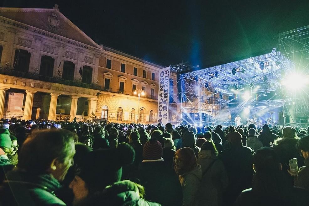 Capodanno in piazza Prefettura a Bari